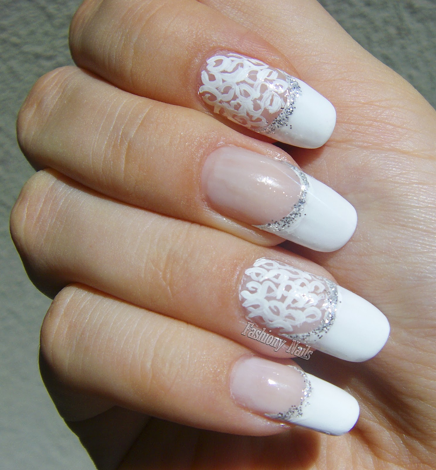 Bridal Style Nail Design | Fashiony Nails | Beauty Blog