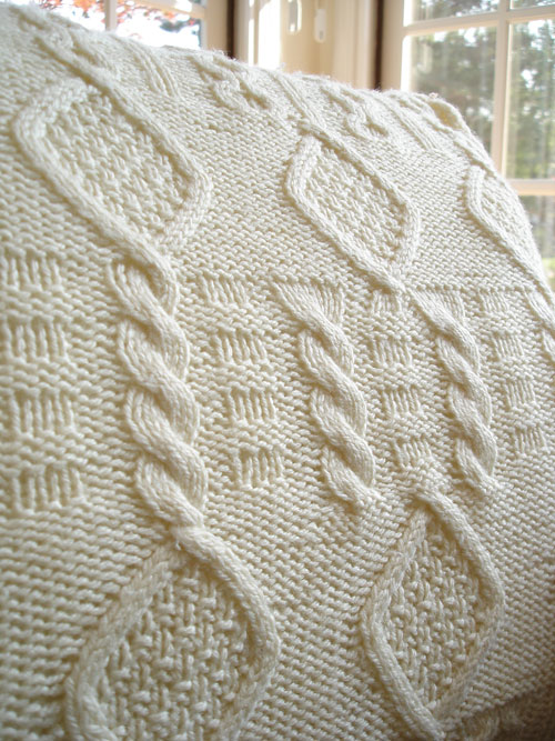 Cable Knit Pillow Pattern Free : KNITTED PILLOW PATTERNS - FREE PATTERNS