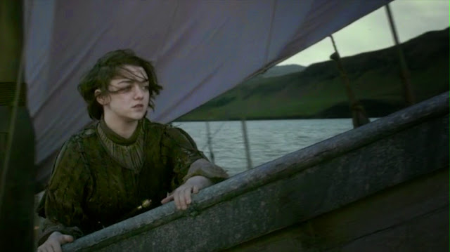 HBO Game of Thrones s04e10: Arya leaving Westeros