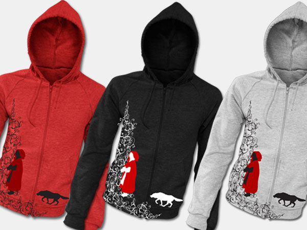 Little Red Riding Hood Hoodie Sweatshirt Design Illustration Apparel Alice Graphix AliceGraphix