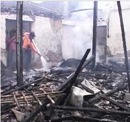 Sebuah Rumah di Jalan Towangsan Mojorejo Madiun Terbakar