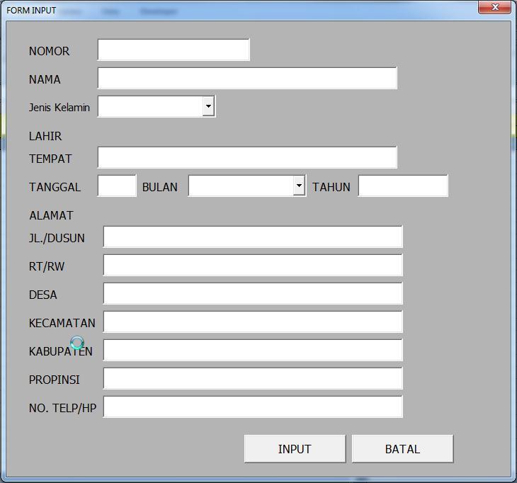 Membuat Form Input ~ Excel Solution