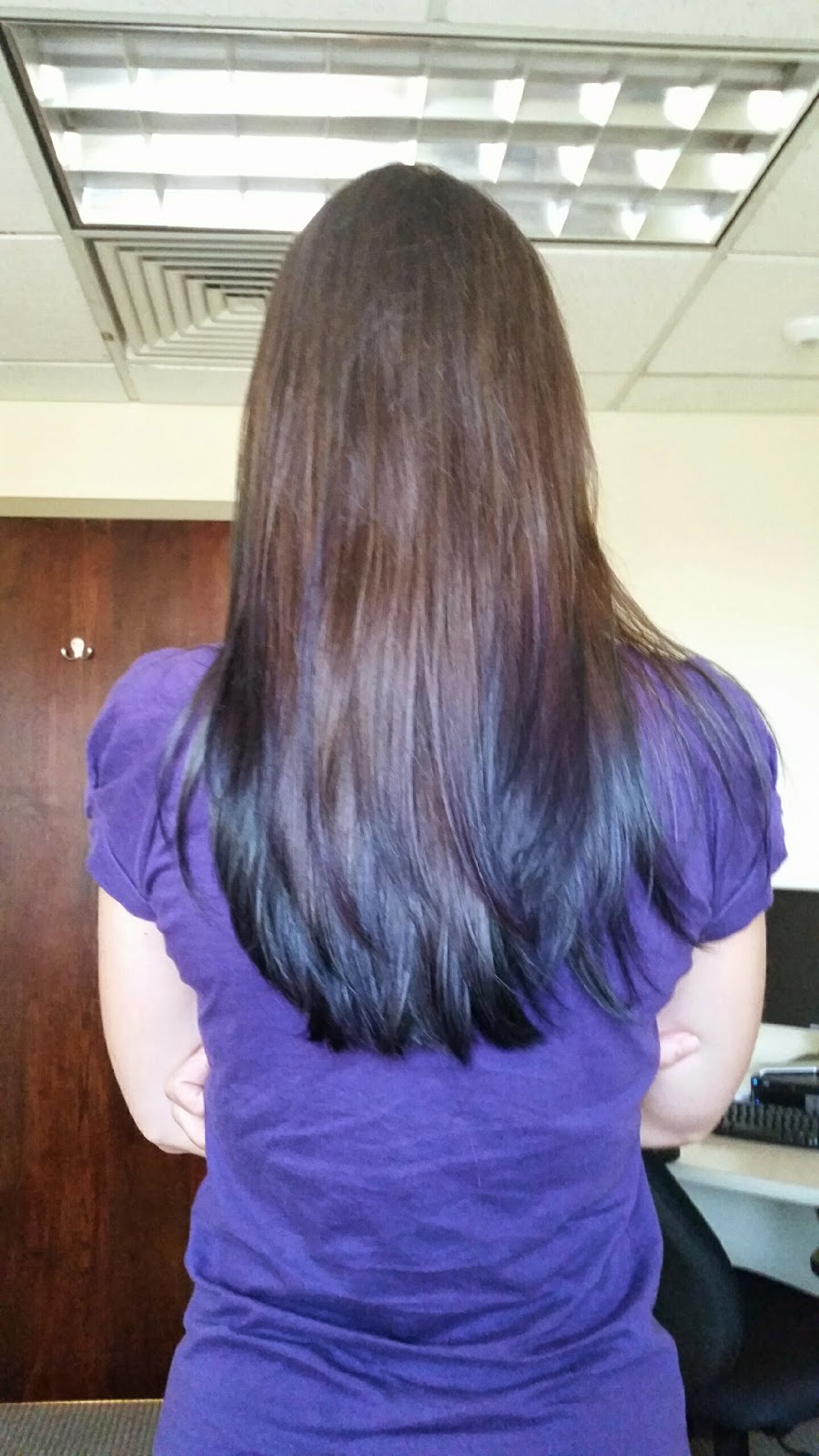 Peacock Inspired Subtle Manic Panic Blue and Purple Ombre Dyed Tips