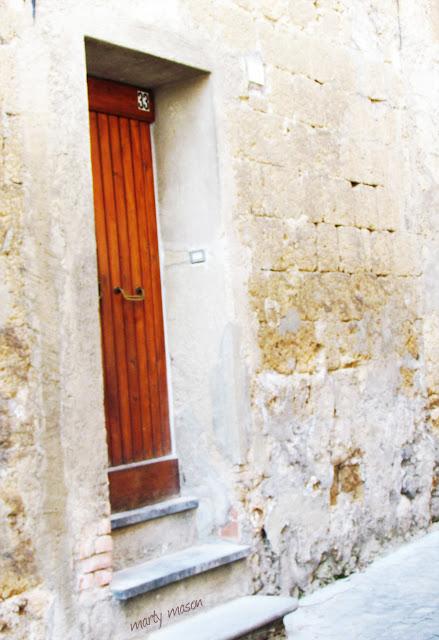Wood doorway in Italy