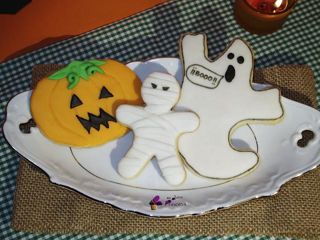 calabaza, fantasma, fondant, galletas, galletas fondant, halloween, momia,