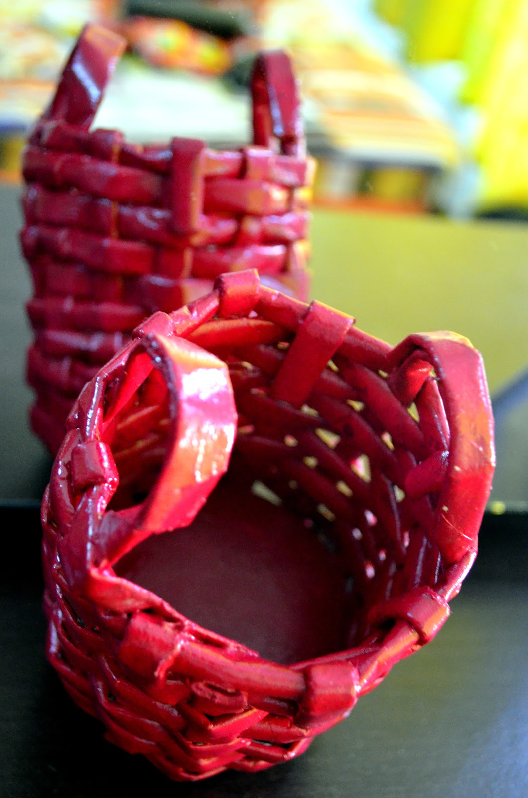 Ankinish creations paper basket for Paper best out of waste