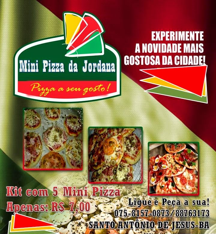 Mini Pizza da Jordana Ligue e Peça seu kit.
