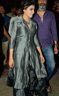 Samantha Latest Pictures in Stylish Dress at Rajendra Prasad son Balaji Wedding Reception