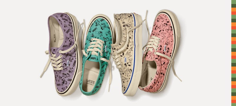 Peanuts x Vans collaboration collection - six sneaker styles, available from July 2014