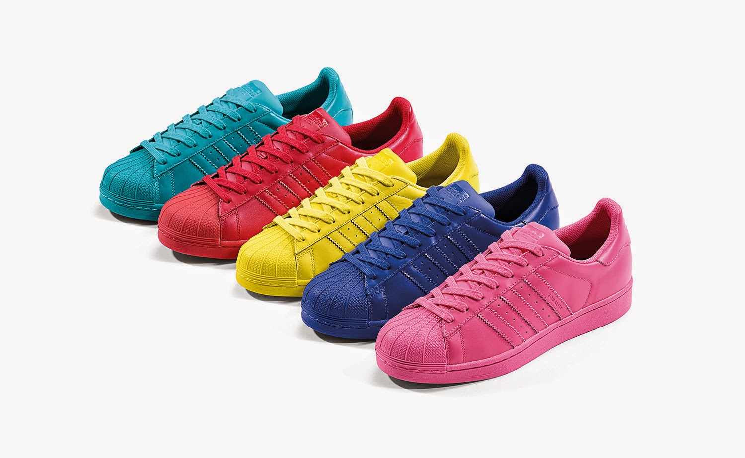 adidas originals superstar supercolor pack by pharrell. Black Bedroom Furniture Sets. Home Design Ideas