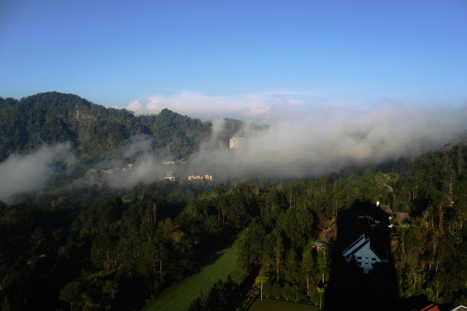 admiring Genting in the morning
