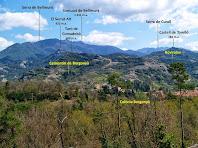 Vista de les principals serres i cims de la vessant de llevant vistos des de Can Pontet