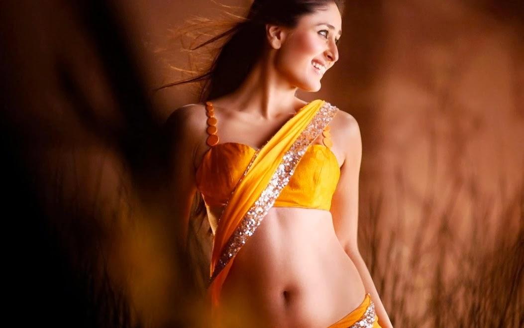 bollywood actress kareena kapoor in yellow cloth hot wallpaper