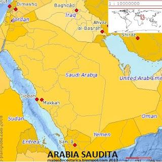 Arabia Saudita (planiglobe)