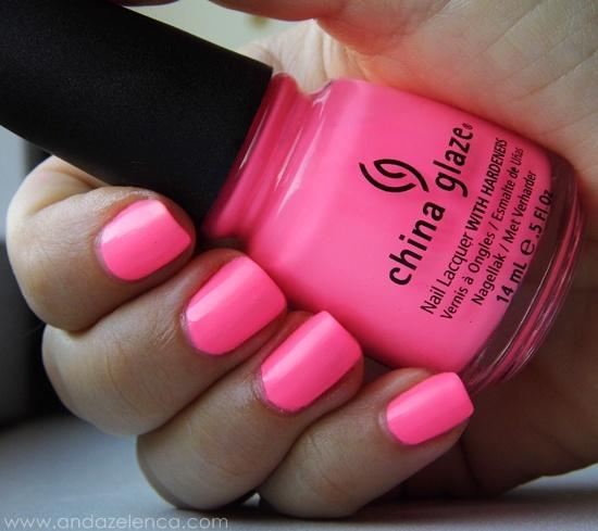China Glaze Red Nail Polish: NOTD: Shocking Pink By China Glaze