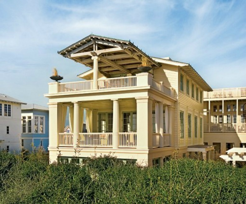 Beach house tour seaside fl beach house for Coastal architecture design