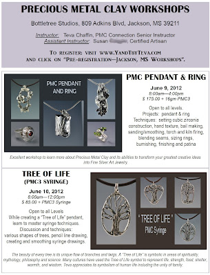precious metal clay workshop flier
