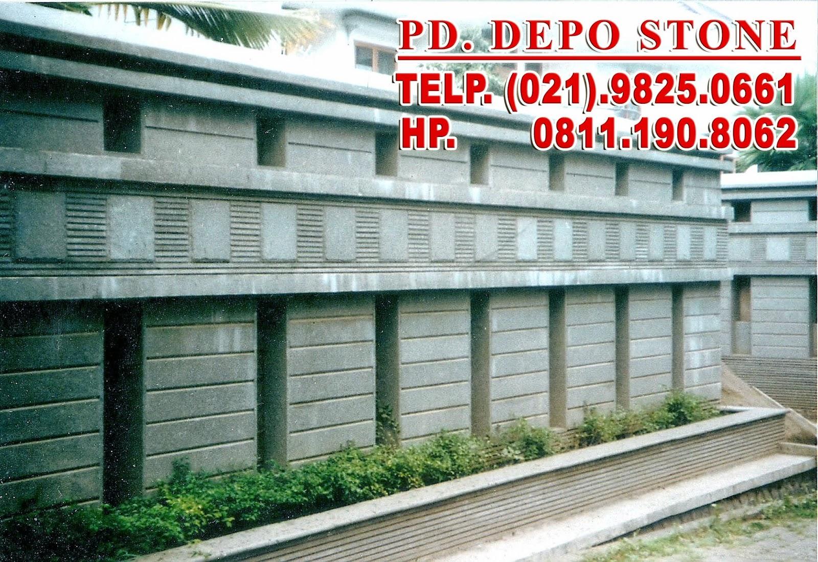 batu alam depo stone bintaro contoh pemasangan dan nama