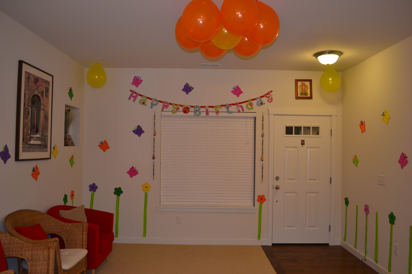 Simple decoration ideas for birthday party at home image for Birthday home decorations