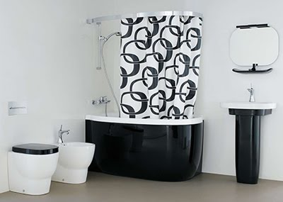Site Blogspot  Bath Room Decor on Black And White Bathroom Wall Tiles Decorating   Bathroom On Gallery