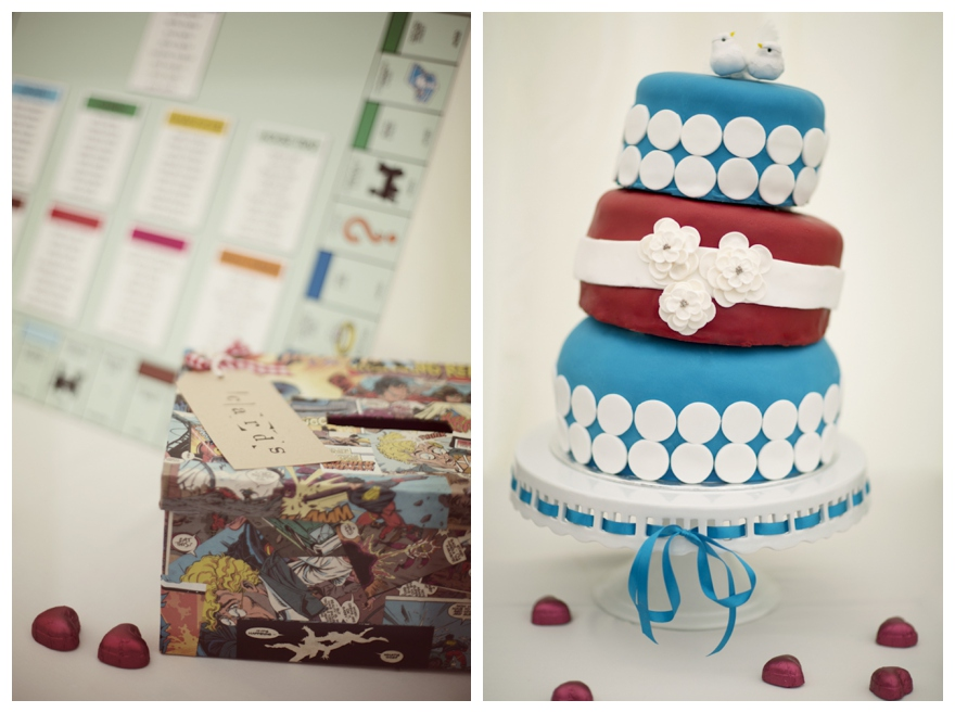 Real Quirky ComicBook Themed Wedding Verity Russell The - Comic Book Wedding Cake