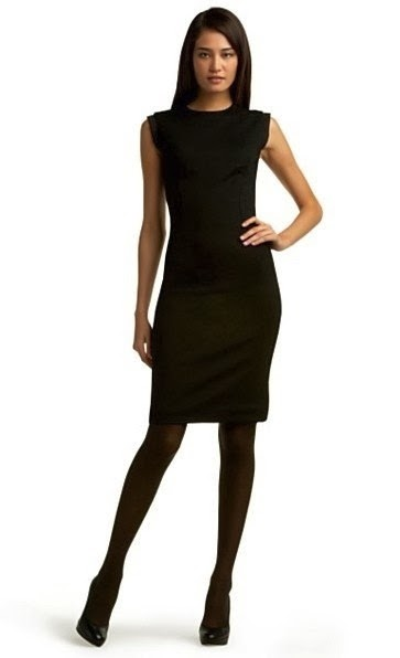 How to wear tights with that little black dress ...