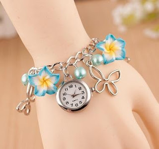 Jam Tangan Gelang FLORAL Korean Fashion Casual Bunga
