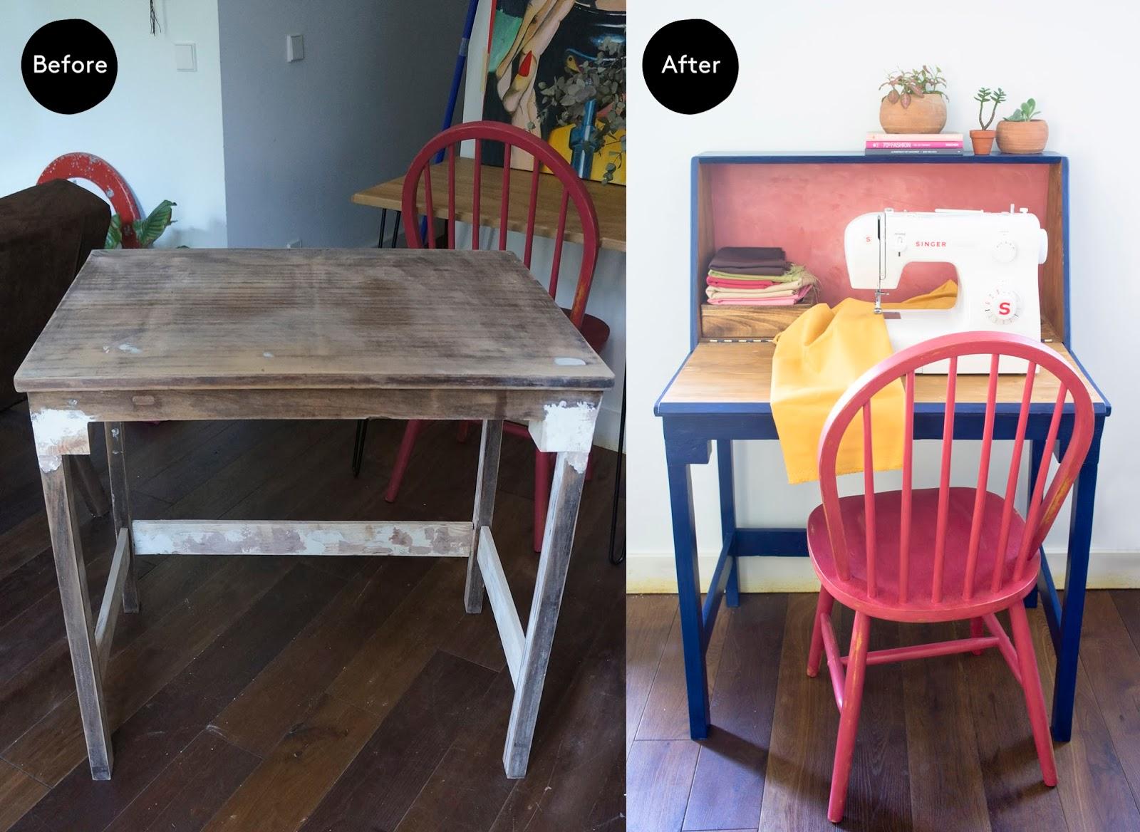 C mo hacer una mesa para la m quina de coser blog - Mueble para maquina de coser ...