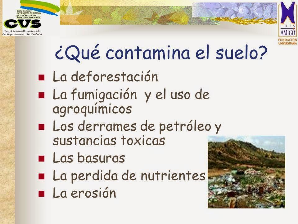 La contaminaci n como se puede colaborar a no contaminar for Como se forma y desarrolla el suelo