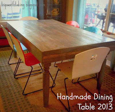 Pine Dining Table with Weathered Grey Stain