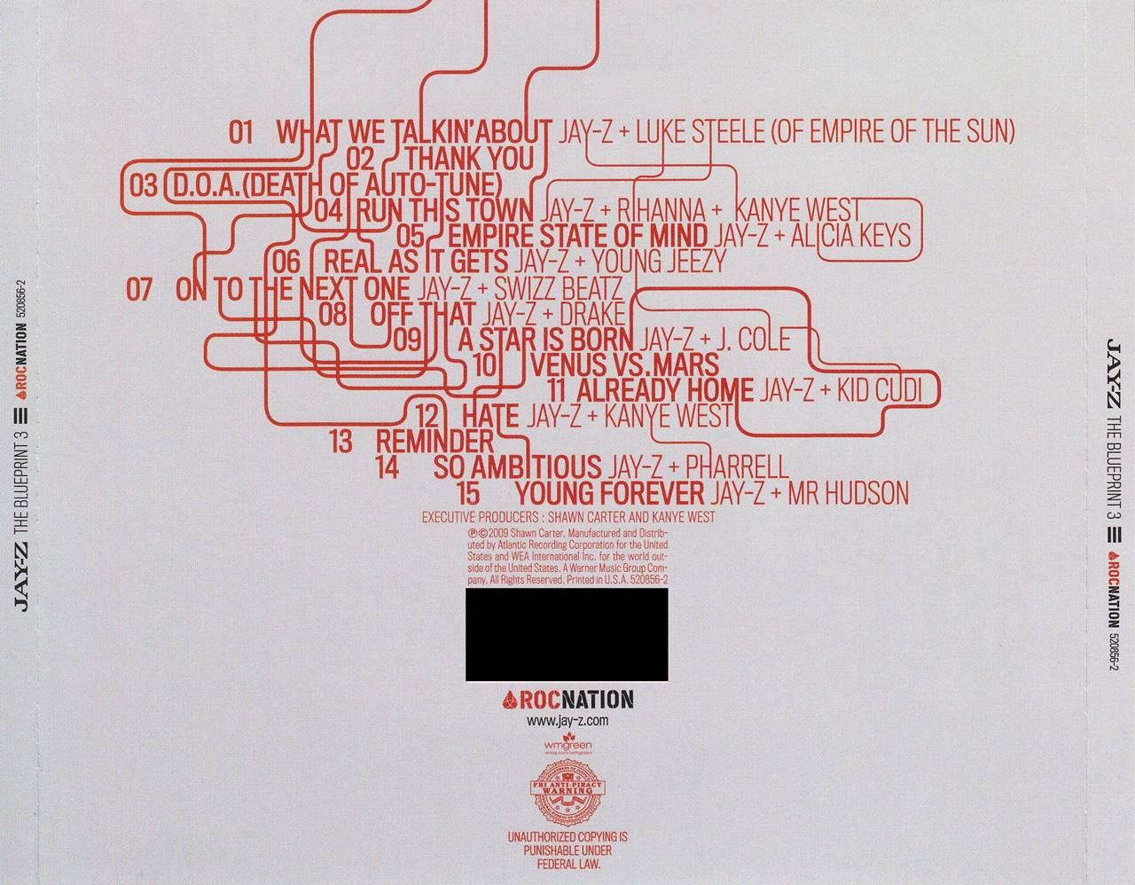 De afar jay z the blueprint 3 2009 eladio prezint hip title notes the blueprint 3 malvernweather Choice Image