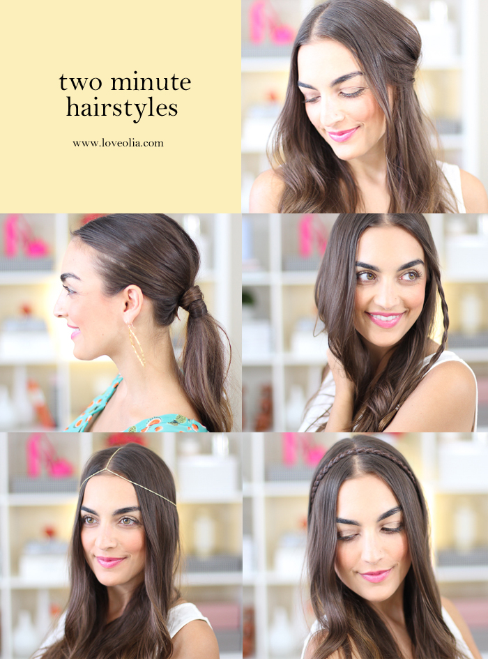 Love Olia Two Minute Hairstyles