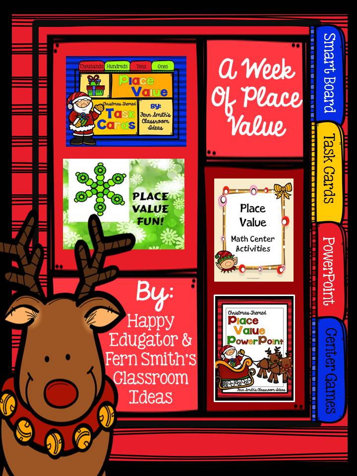 Fern Smith's Classroom Ideas Christmas Place Value - A Week's Worth of Place Value for Second and Third Grade.