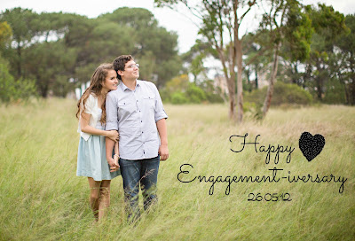 Happy Engagement-iversary Kristy and Jesse