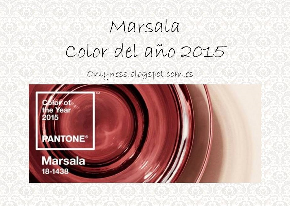 OnlyNess Marsala color Pantone 2015