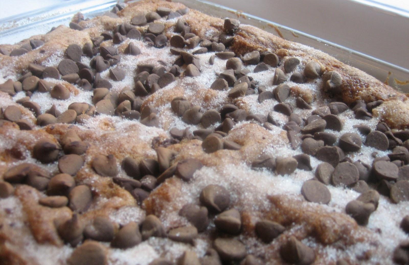 Chocolate Chip Sour Cream Coffee Cake