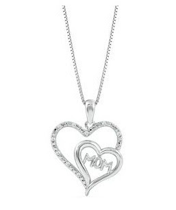 Mother's Day diamond pendant