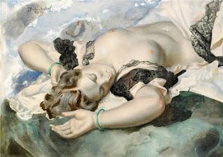 Oleo De Mujer Desnuda Pintura