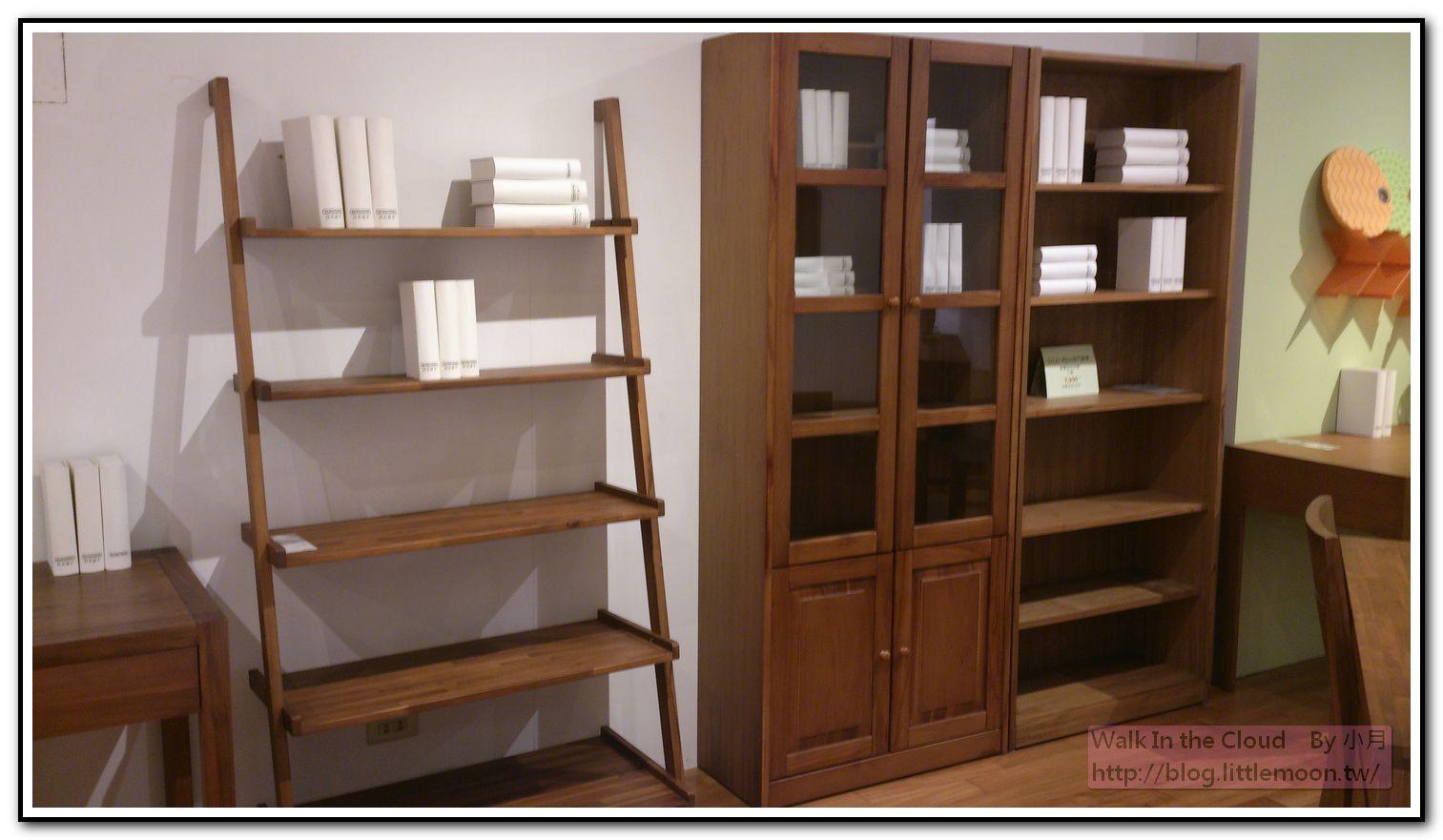 木質書櫃 A型、玻璃門型 (16500元)、無門型