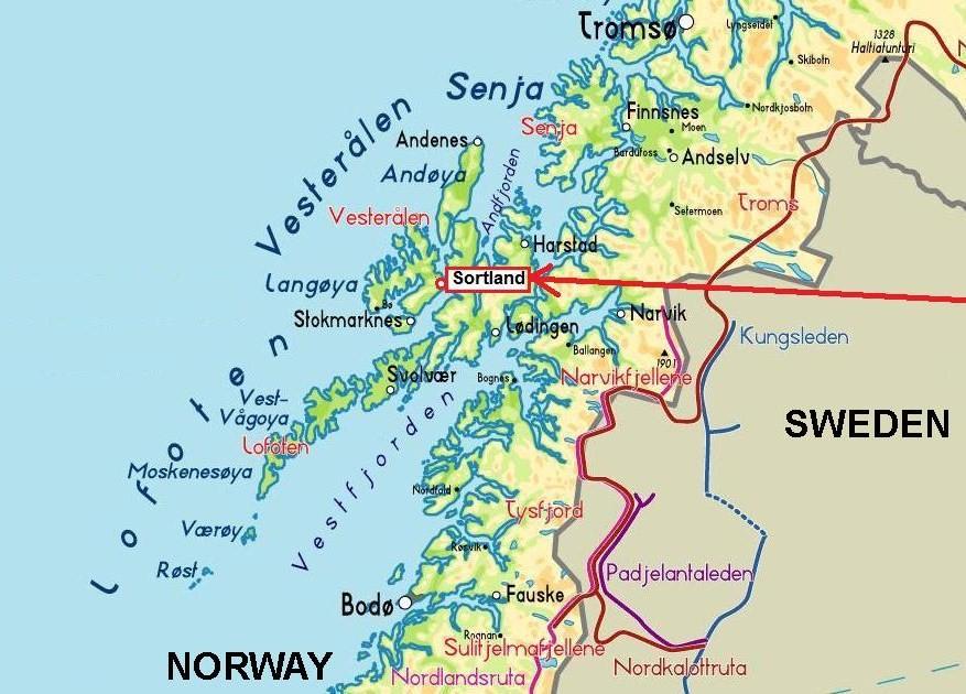 Ultima Thule Sortland The Lucky Blue Town Of Norway - Norway map lofoten islands