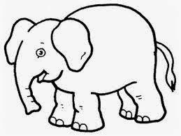 mewarnai gambar gajah untuk anak 3