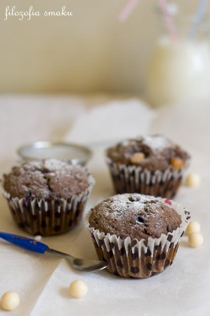 Czekoladowe muffinki z borówkami i amaretto