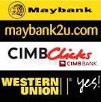cimb click,maybank 2u.