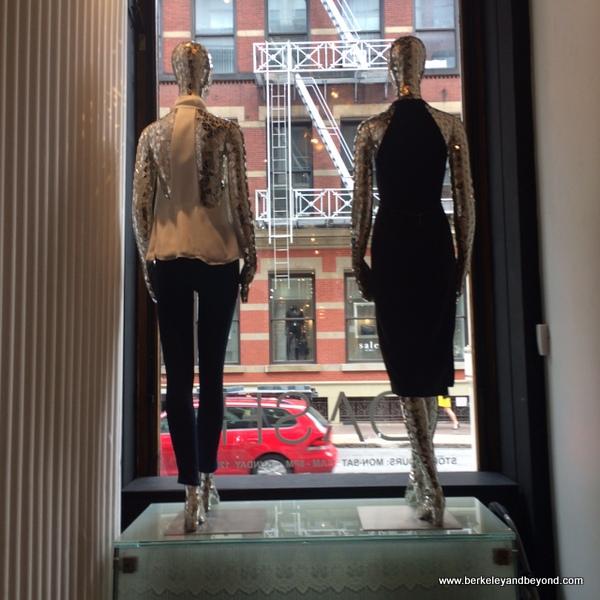 display window at Kim Kardashian West's Dash shop in NYC