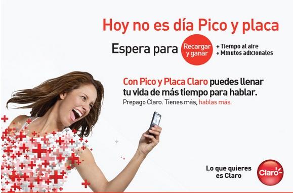 claro colombia hoy Martes 7 agosto 2012 hoy es dia pico y placa comcel