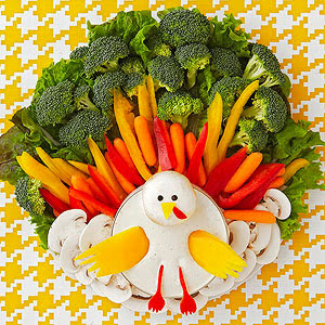 Family Fun Magazine recipe for a Thanksgiving veggie platter