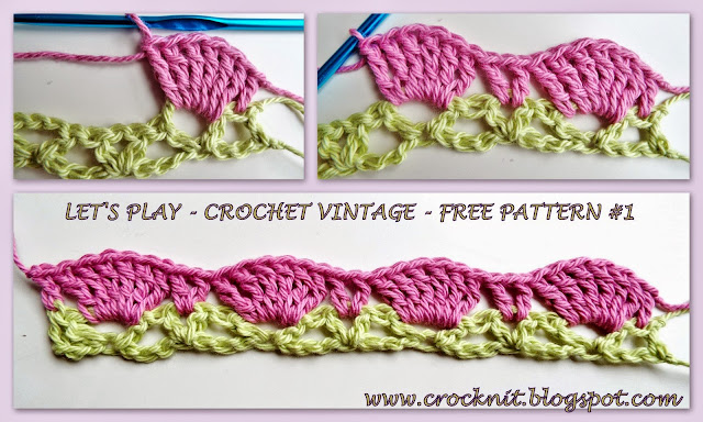free crochet patterns, shells, fans, vintage