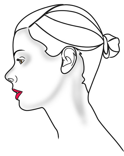 how to draw a human head step by step
