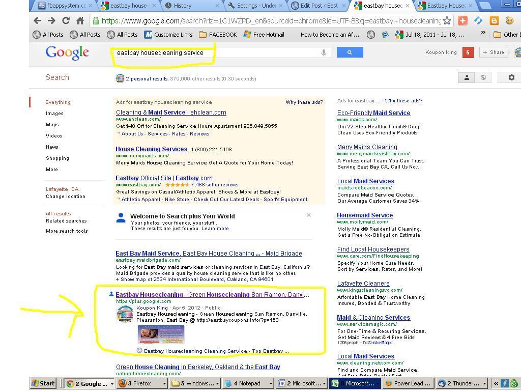 bay area marketing best bay area marketing features best 1st page google rank for keywords eastbay housecleaning