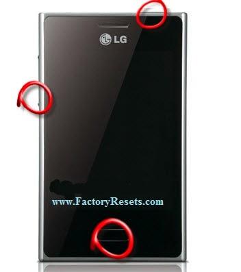 LG E400 Hard reset